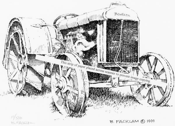 Vintage Fordson Farm Tractor ~ Artist Signed Print