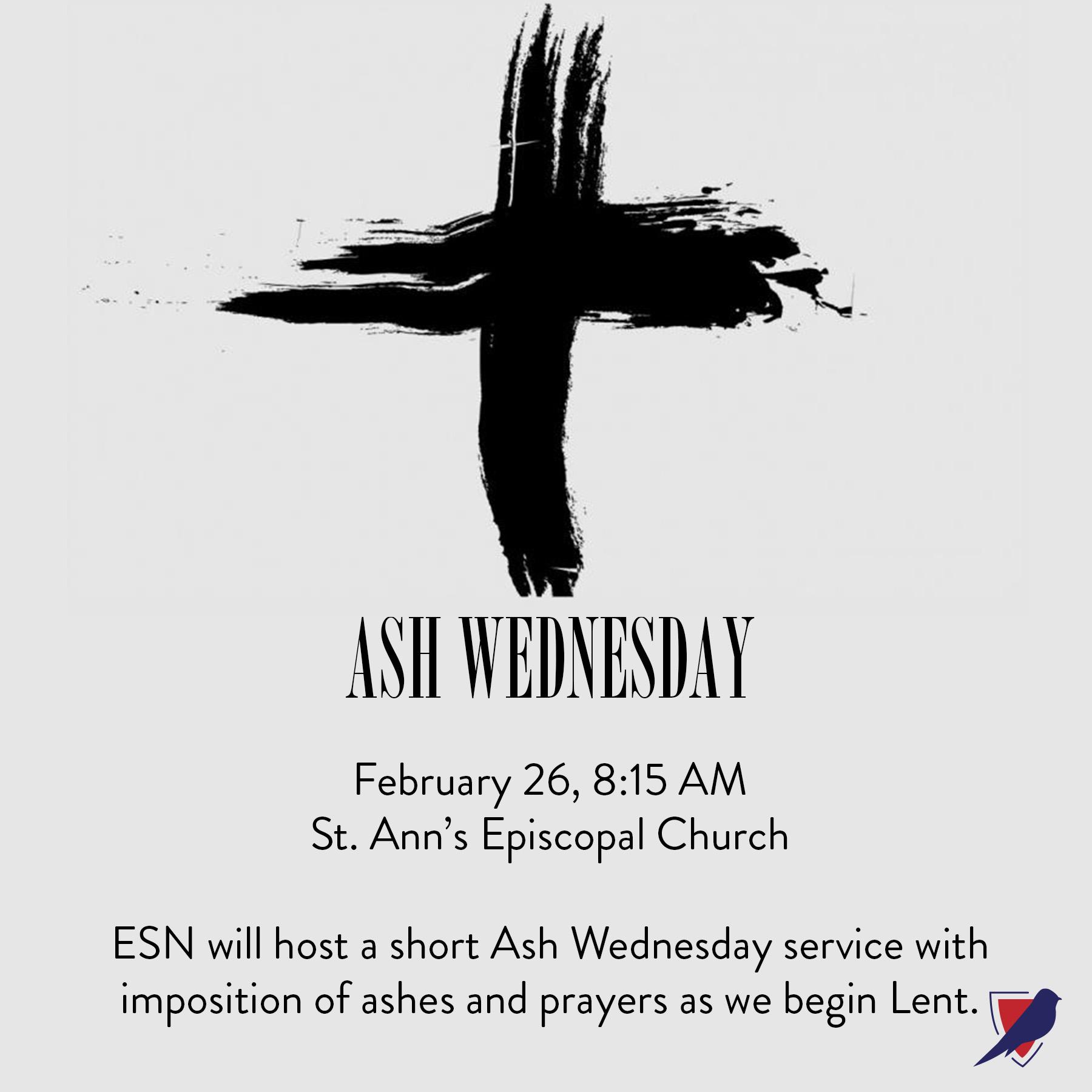 Ash Wednesday Service Episcopal School Of Nashville