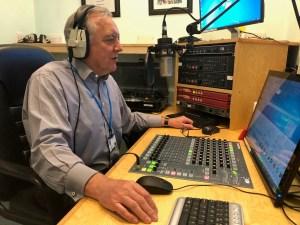 Hospital radio volunteer of 45 years, John Alborough.