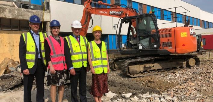 Colchester Hospital construction milestone