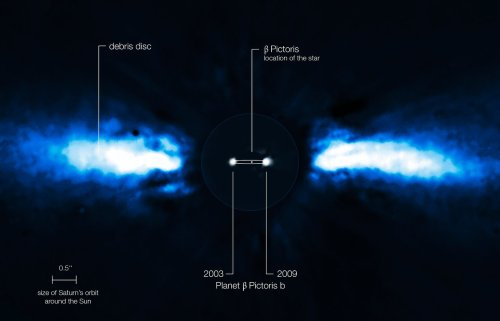small resolution of the planet beta pictoris b was discovered in november 2008 but as mentioned in the last picture it wasn t confirmed until the next year