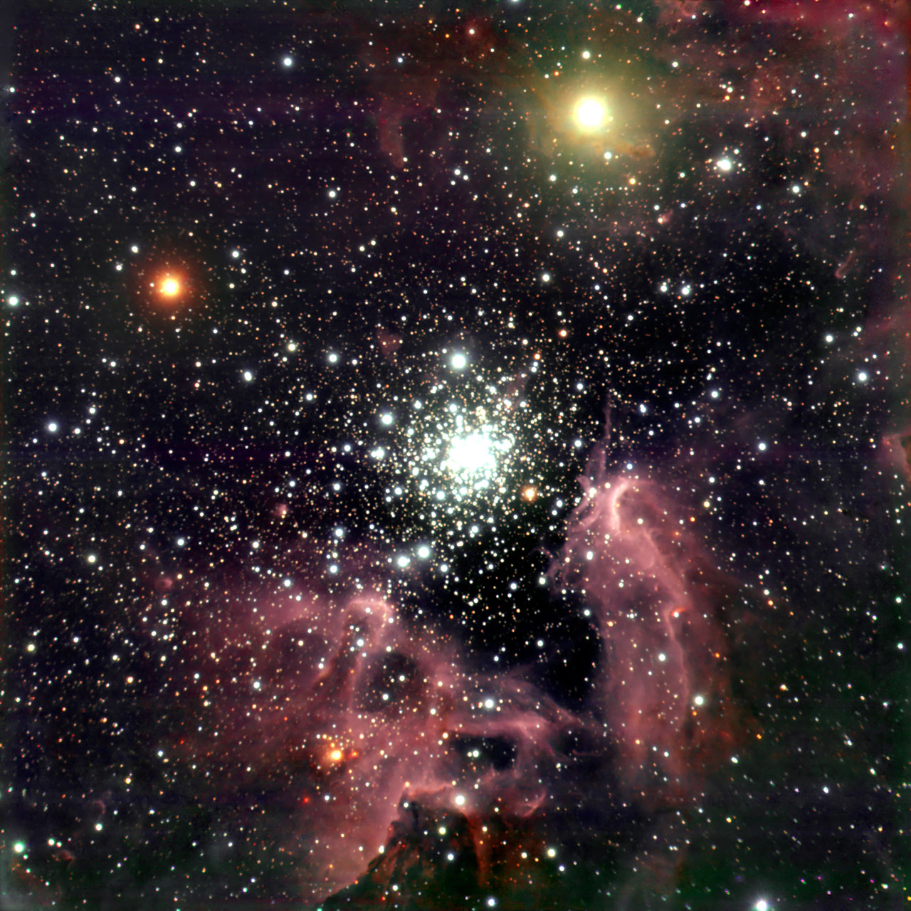 The Cross Hd Wallpaper The Galactic Starburst Region Ngc 3603 Eso