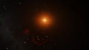 Animação dos planetas em órbita de TRAPPIST-1