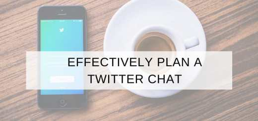 effectively plan a Twitter chat
