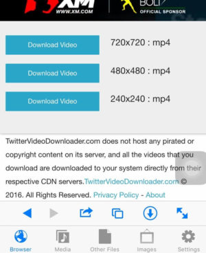 Twitter video downloader apps