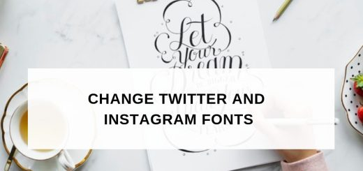 Twitter and Instagram Font Generator tools