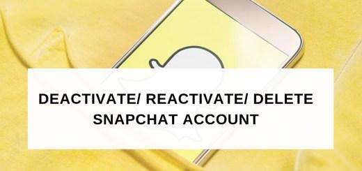 Snapchat Delete Account