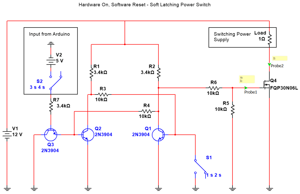medium resolution of soft latching toggle switch with active reset circuit esologic latch switch 2 circuit diagram