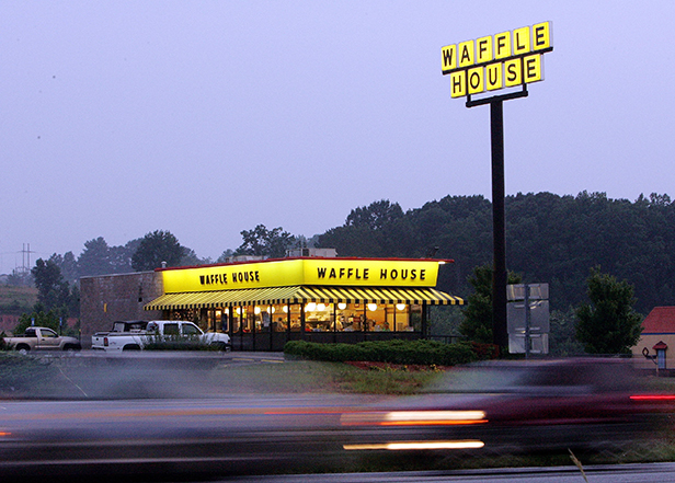 The Waffle House, on State Road 25, is open all night for an after-after prom meal.