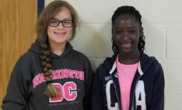 Freshmen Mariah Chambers and Alexis-Kleckner