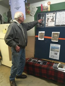 Project founder Jim Havens reviews the plans.
