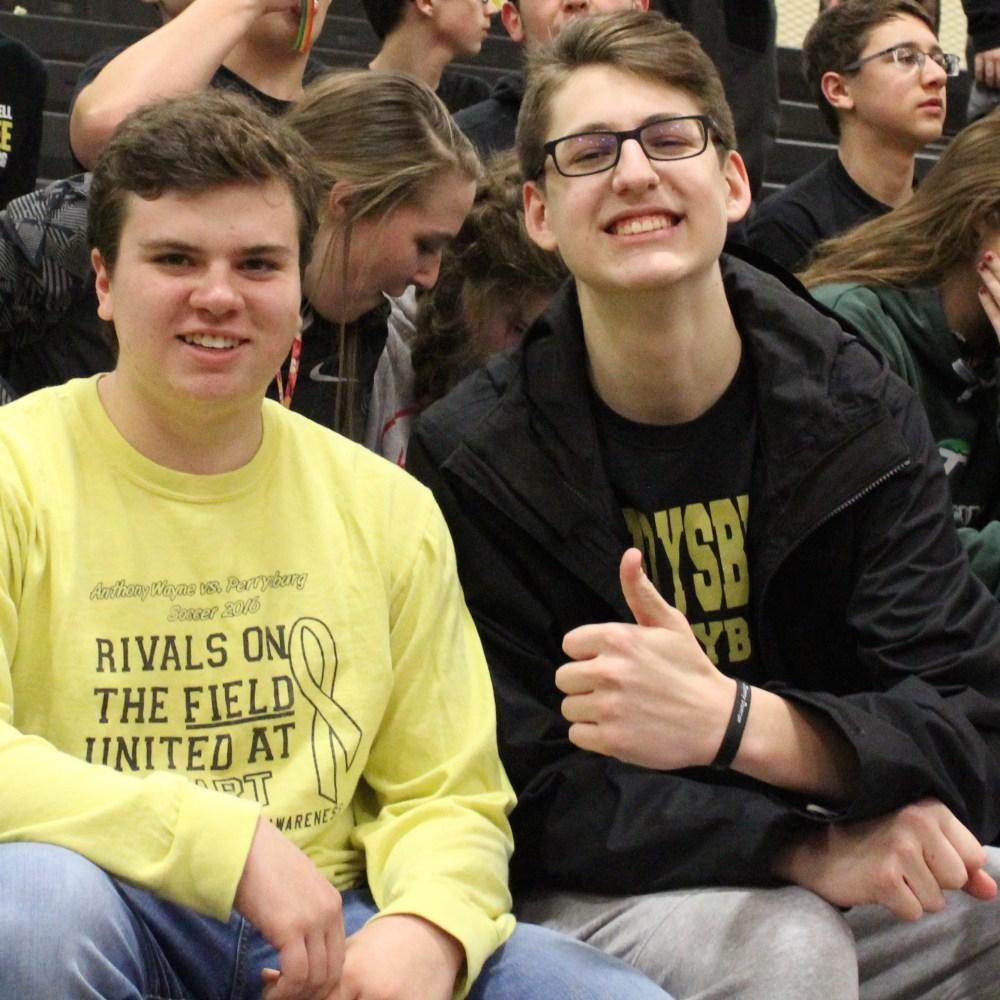 Sophomores Nate Stedman and Garret Pruss Photo Credit: Jacob Prokup