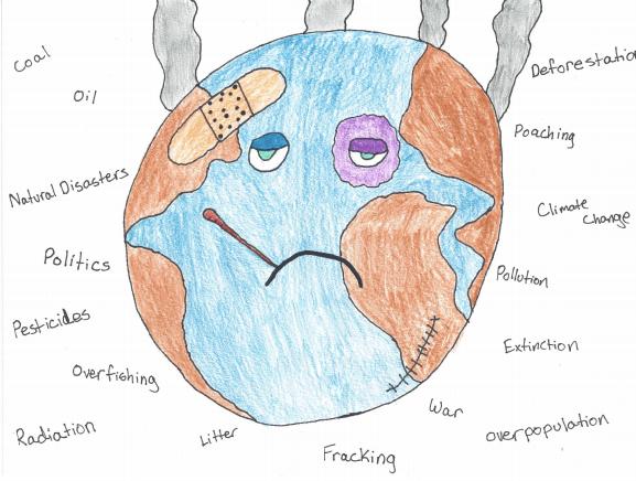 Editorial Cartoon: Environmental Issues Piling Up