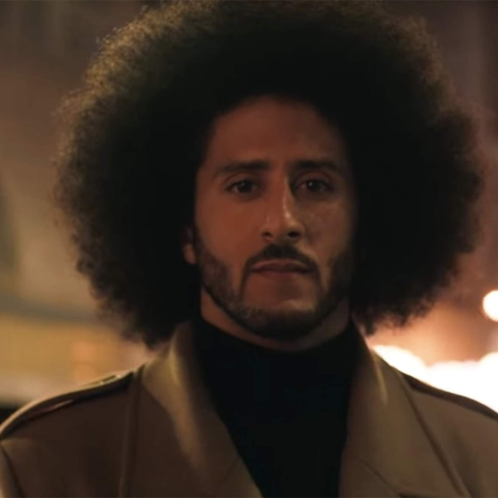 Picture of Kaepernick, Image from the Nike Commercial