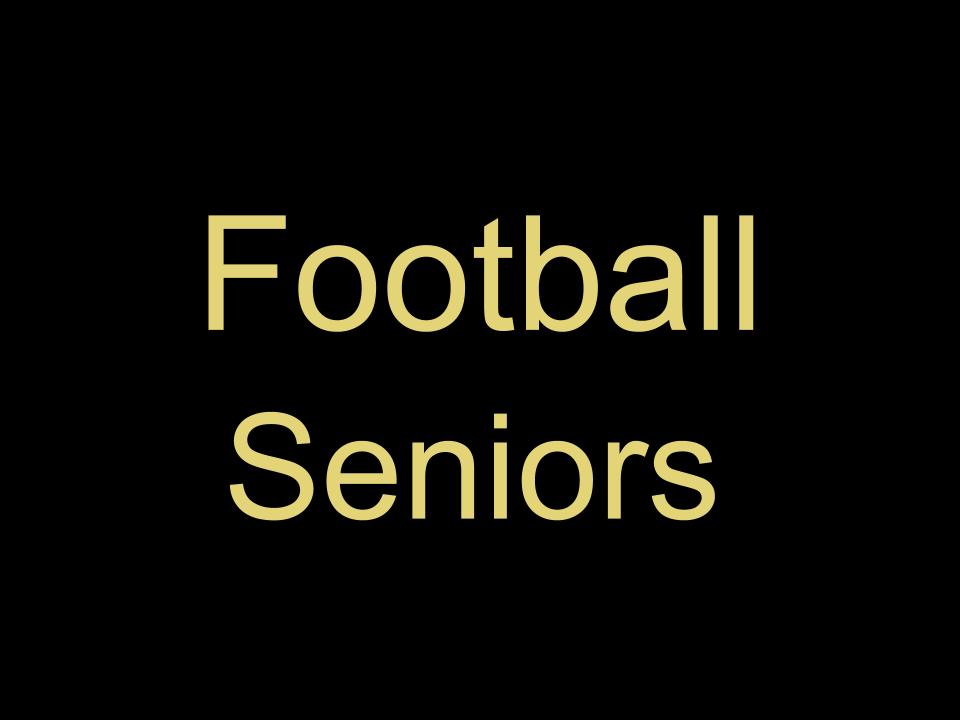 Seniors' Last Football Game