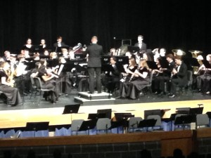 Band preforming at the fall concert.