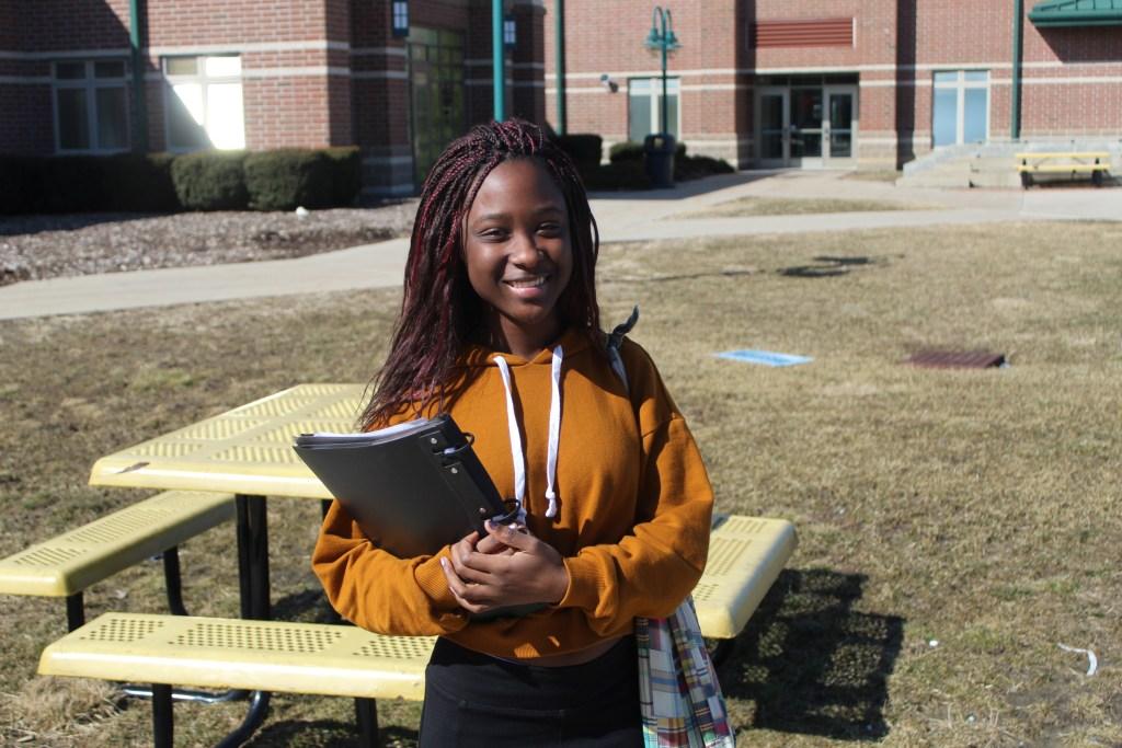 Student smiles