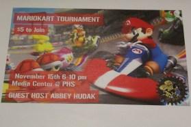 Mario tournament game night poster