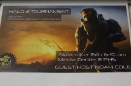 Halo 3 tournament game night poster