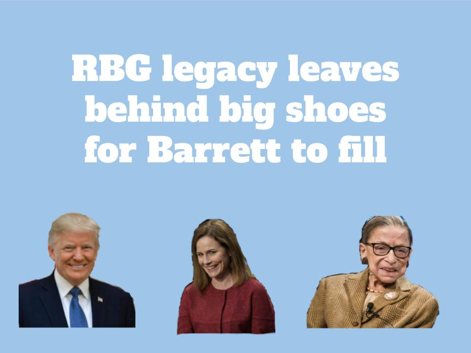 RBG's legacy leaves behind big shoes for Barrett to fill