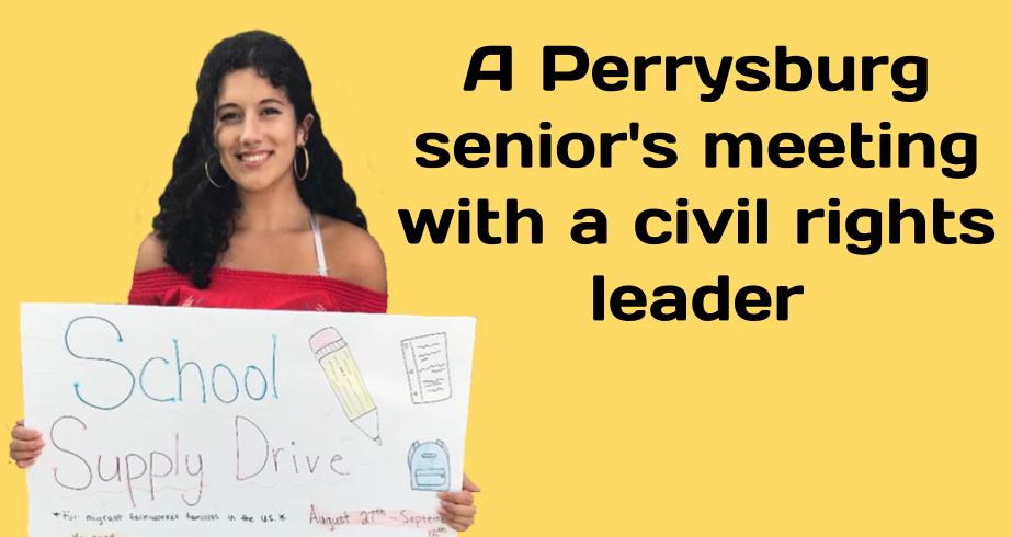 A Perrysburg senior's meeting with a civil rights leader