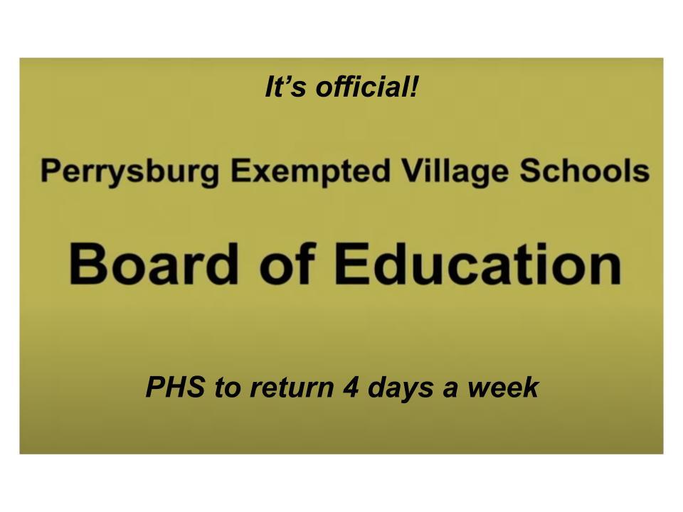 PHS to return 4 days starting March 16
