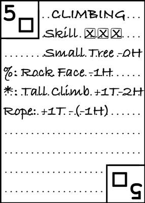 Modified Climbing Card