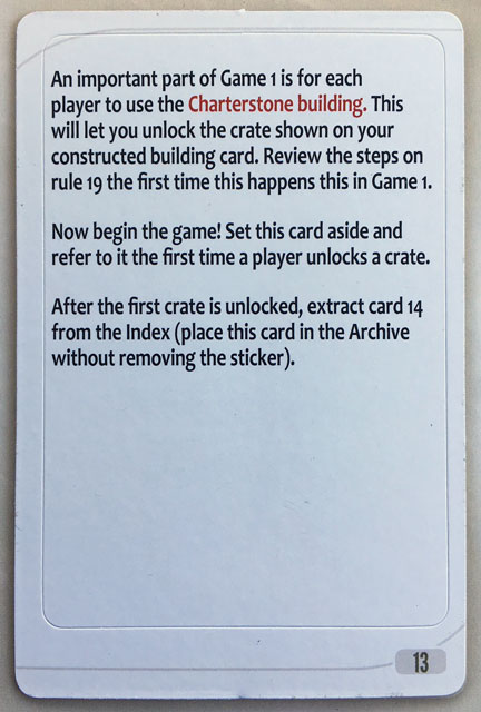 Charterstone Card 13