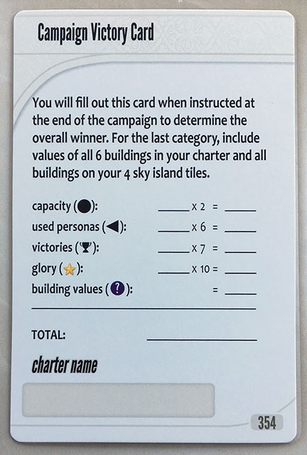 Charterstone Card 354