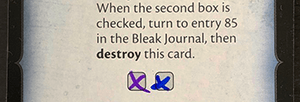 Betrayal Legacy card with Checkboxes