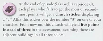 Number 5 Church Sticker