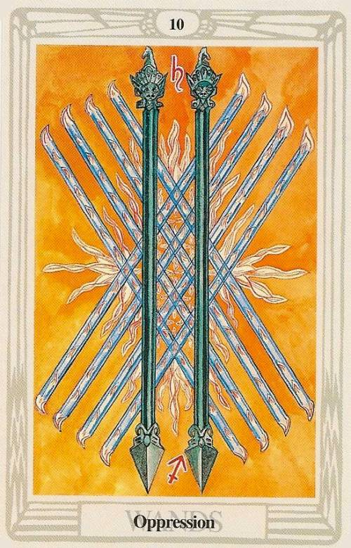 Ten Of Wands Thoth Tarot Card Tutorial Esoteric Meanings