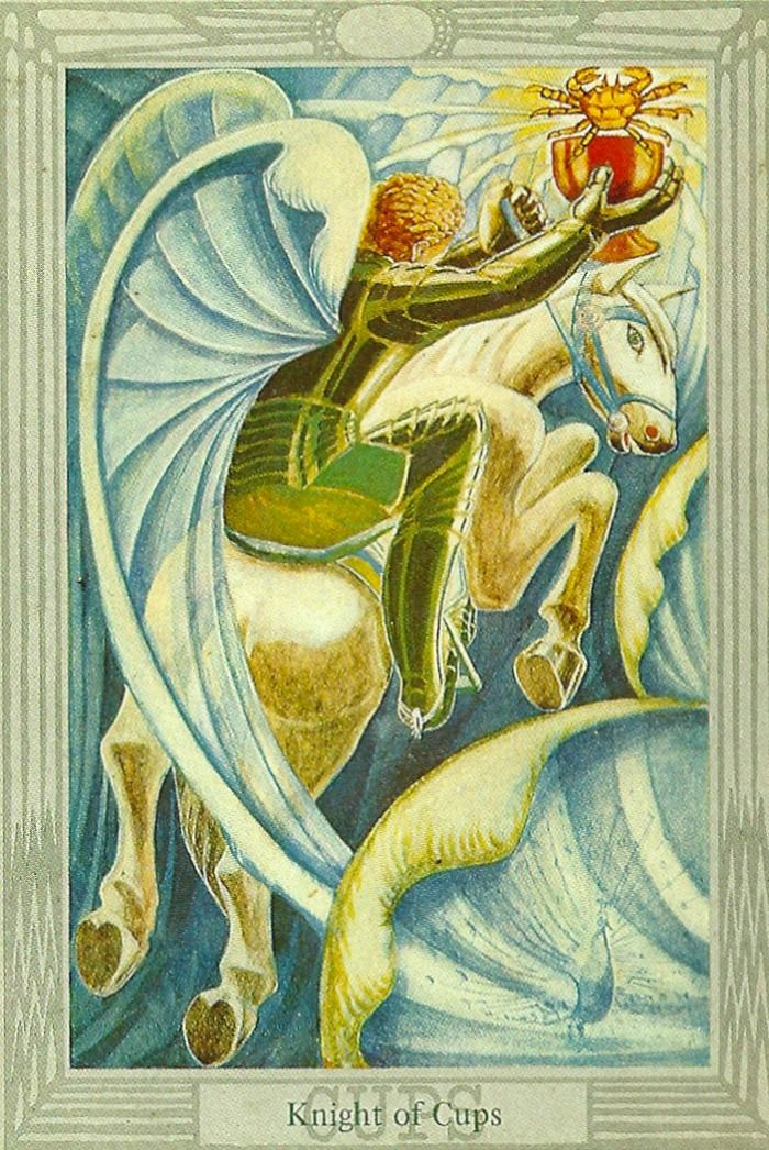 Knight Of Cups Thoth Tarot Card Tutorial