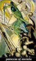 Princess of Swords Thoth Tarot Card Tutorial