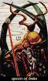 Queen of Disks Thoth Tarot Card Tutorial
