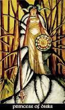Princess of Disks Thoth Tarot Card Tutorial
