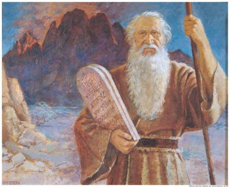 Burning Bush Talks to Moses Symbology