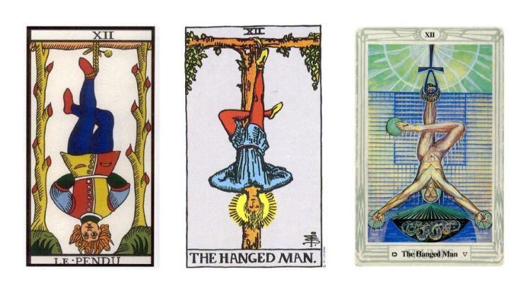 Thoth Hanged Man Tarot Card