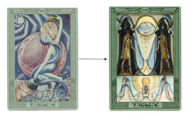Thoth Moon Tarot Card