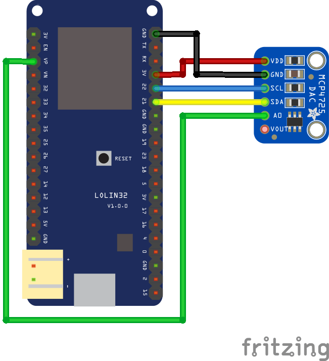 ESP32 and MCP4725 Digital-to-Analog Converter example | ESP32 Learning