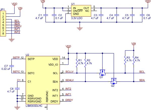 lsm303 module schematic