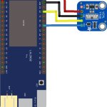 esp32 and veml7700 layout