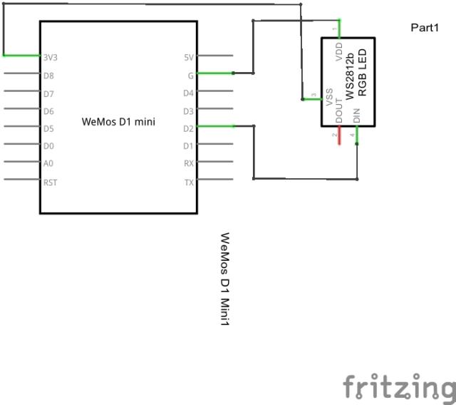 wemos and ws2812_schem
