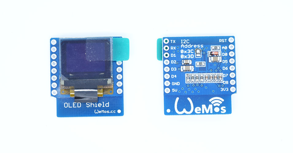 Wemos OLED shield example - esp8266 learning