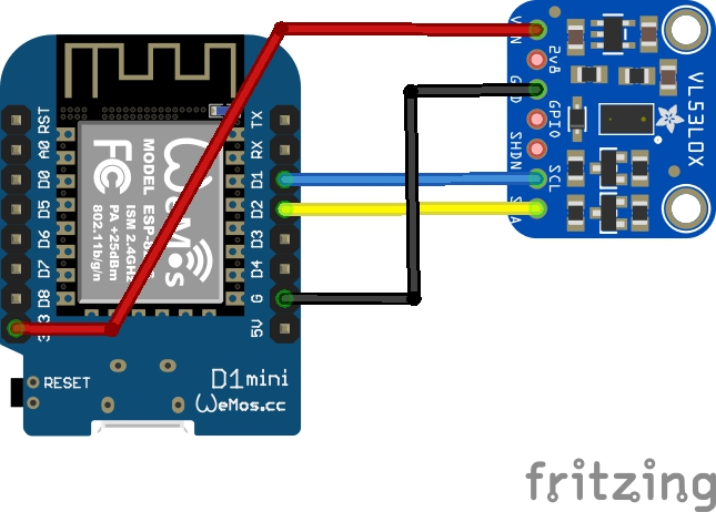 VL53L0X Time-of-Flight sensor and ESP8266 - esp8266 learning