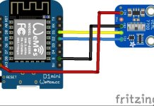 ESP8266 and VEML7700 layout