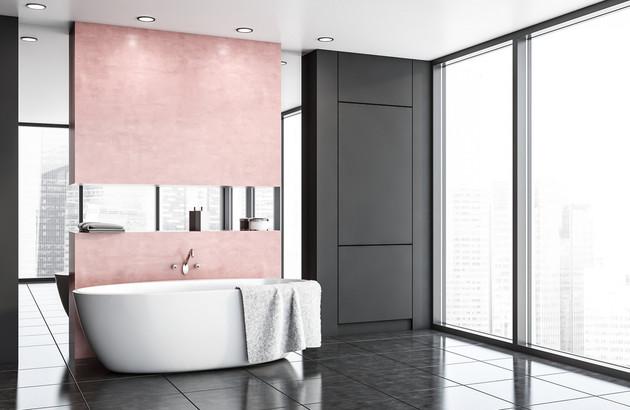 salle de bain coloree la tendance est