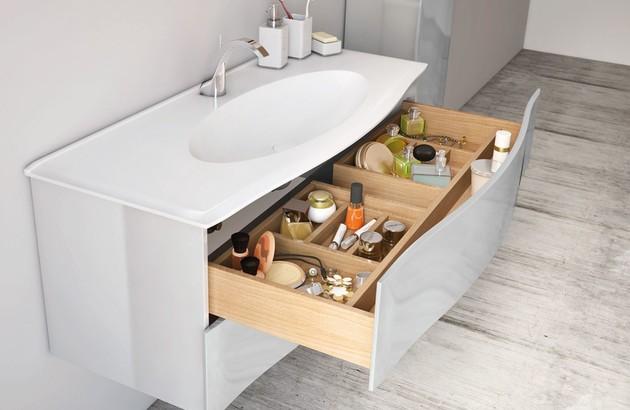 espace sous le lavabo pour mieux ranger