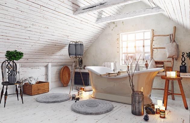 salle de bain rustique la tendance