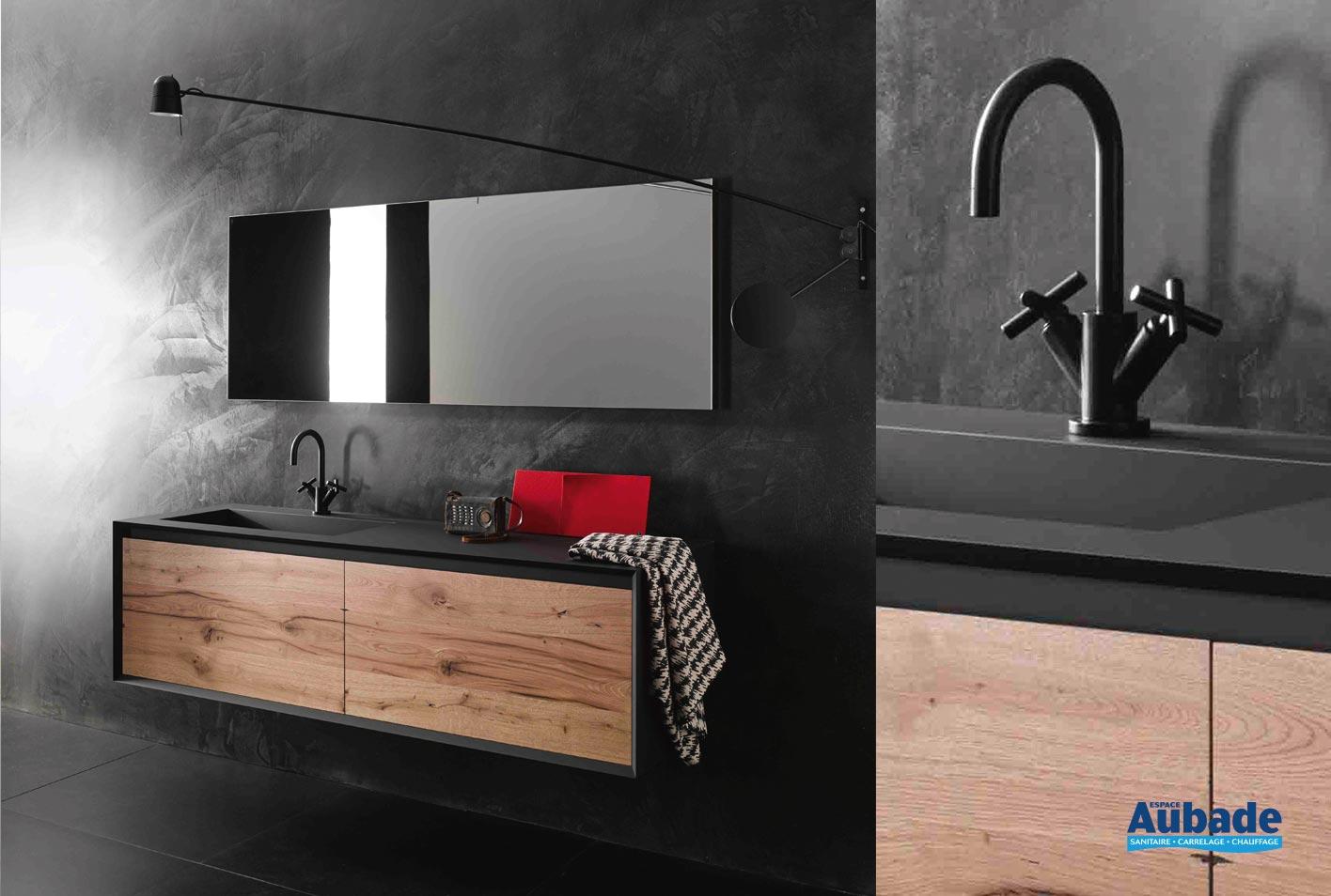 meuble sous vasque en bois iks stocco
